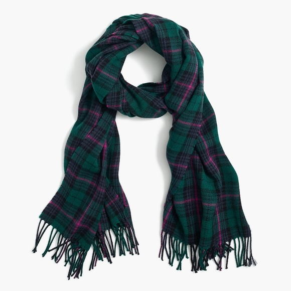 J. Crew Classic Plaid Scarf Peregrine Blackwatch